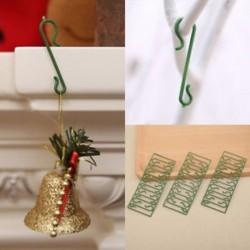 50db 100db karácsonyfa DIY lógó horog Xmas fa medál otthon díszek dekoráció