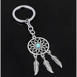 * 28 tollszárnyak álom Catc ... Kreatív fém ötvözet kulcstartó autó kulcstartó Unisex kulcstartó kompass kulcstartó