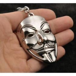 * 32 Ezüst V maszk Kreatív fém ötvözet kulcstartó autó kulcstartó Unisex kulcstartó kompass kulcstartó gyűrű