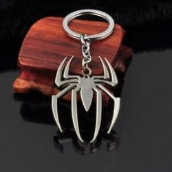 * 35 Ezüst Spider-Man Kreatív fém ötvözet kulcstartó autó kulcstartó Unisex kulcstartó kompass kulcstartó gyűrű