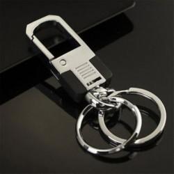 * 39 Kettős kulcstartó Kreatív fém ötvözet kulcstartó autó kulcstartó Unisex kulcstartó kompass kulcstartó gyűrű