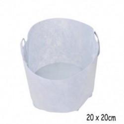 2 Gallon with Handles Fehér kerek szövet edények növény gyökér tasak konténer nő zsák levegőztető tartály
