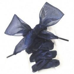 Fekete Új lapos selyem szatén szalag cipőfűzők Sport cipő csipkék cipők cipők