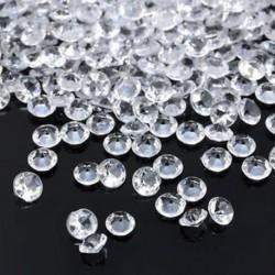 fehér 1000PCS 4.5mm Esküvői Party Dekorációs Kristályok Gyémánt Táblázat Konfetti Kellékek