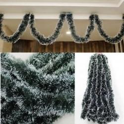 Karácsonyi zöld szalag dekoráció Xmas fa díszek Home Party Holiday dekoráció