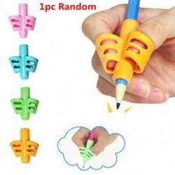 * 4 1db Véletlenszerű 3Pcs / Set Gyermek ceruzatartó tollírás Grip testtartás korrekciós eszköz Új