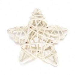 fehér 5Pcs / Set 6CM Rattan Csillagdísz Díszek DIY Karácsony / Születésnap &amp  Home Deor