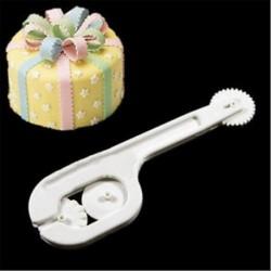 4db Fondant Cake DIY Cukor Craft Paste Embosser kerék öltési szerszám