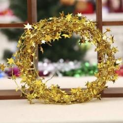Sárga 7.5m karácsonyfa csillag fenyő Garland függő dísz Xmas party fesztivál dekoráció