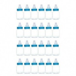 24db kék (9x4cm) 24lot Fillable Party Baby Girls fiúk zuhanyzó palackok medve decors kedvez a Candy Box