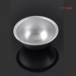 5.5cm 2db 3D labda alumínium gömb fürdő bomba torta pan sütés zselés penész tészta eszköz
