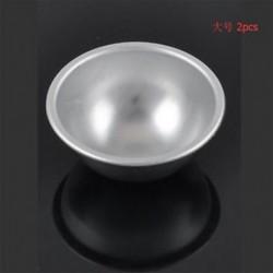 6,5 cm 2db 3D labda alumínium gömb fürdő bomba torta pan sütés zselés penész tészta eszköz
