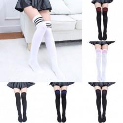 1 db női térd zokni comb harisnya fehér