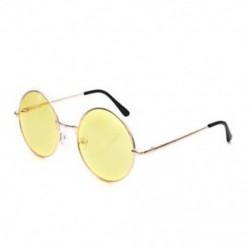 Sárga Női divat retro kerek műanyag szemüveg objektív napszemüveg szemüveg keret szemüveg