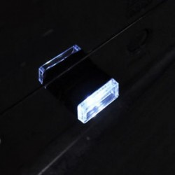 fehér 1db USB vezeték nélküli univerzális mini beltéri autós otthon LED világítás légkör lámpa