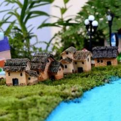 Ház Új figura kézműves növény pot kerti dísz miniatűr tündér kert dekoráció DIY