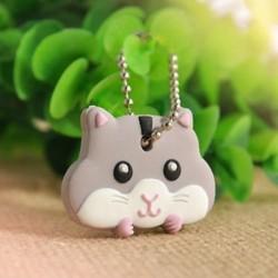 5 * Cat Divat szilikon kulcstartó sapka fejborító kulcstartó tok Shell állatok alakja 1db