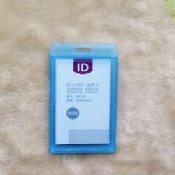 Kék Tartós kemény műanyag azonosító kártya jelvénytulajdonos esete alkalmazott névcímke irodaszerek