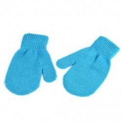 Kék-tó Téli kisgyermek gyerekek kesztyű baba fiú lány aranyos puha kötés ujjatlan meleg kesztyű
