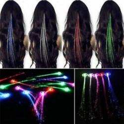 1x száloptikai haj LED-es lámpák születésnapi party ajándék táskák karácsonyi jelmezes klipek