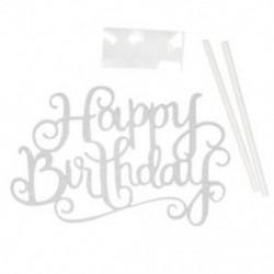Ezüst Arany ezüst boldog születésnapi torta felső fél esküvői kellékek torta díszek