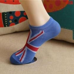 UK Divat férfi női boka zokni alacsony vágású személyzet alkalmi sport szín pamut zokni 1Pair