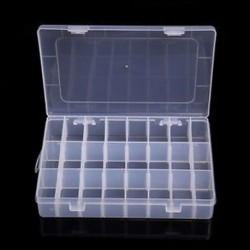 24 rekesz 15/10/24 Slots Adjustable Jewelry tároló doboz Case Craft Organizer gyöngyök tartó