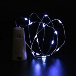 fehér 10 LED éjszakai fény parafa alakú Cooper huzal csillagos fény borosüveg lámpa dekoráció