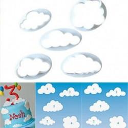 5db-os szett - Felhő alakú sütemény kiszúró forma