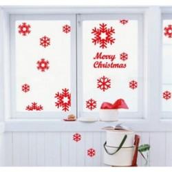 13db-os Piros hópehely ablakmatrica szett - Karácsonyi dekoráció