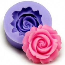 Szilikon 3D rózsa virág fondant torta csokoládé Sugarcraft díszítő penész eszközök