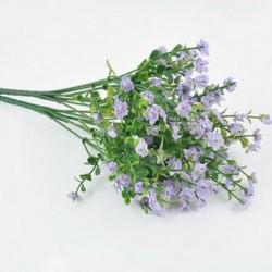 Lila 1 csokor 6 ágak Mesterséges selyem virág Gypsophila fél esküvői lakberendezés