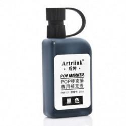 Fekete 25ml Alkohol tintapatron újratöltése POP reklám poszterjelző toll feltöltésére