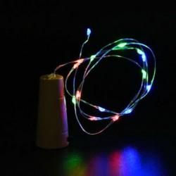 Színes Cork alakú 10 LED éjszakai fény Cooper Wire csillagos fény borosüveg lámpa dekoráció