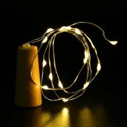 Meleg fehér Cork alakú 10 LED éjszakai fény Cooper Wire csillagos fény borosüveg lámpa dekoráció