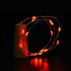 Piros Cork alakú 10 LED éjszakai fény Cooper Wire csillagos fény borosüveg lámpa dekoráció
