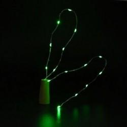 Zöld Cork alakú 10 LED éjszakai fény Cooper Wire csillagos fény borosüveg lámpa dekoráció