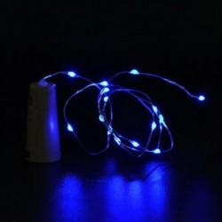 Kék Cork alakú 10 LED éjszakai fény Cooper Wire csillagos fény borosüveg lámpa dekoráció