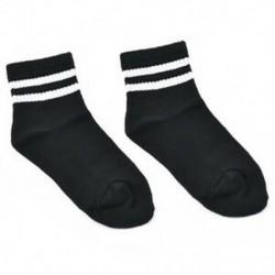 Fekete   fehér csík Női lány pamut csíkos sport magas zokni harisnya alkalmi divat harisnya ajándék