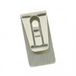 Ezüst Vékony pénz készpénz pénztárca klip hitelkártya rozsdamentes acél tartó 2 színben