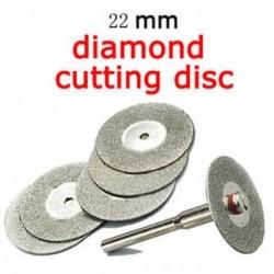 Hot 5 PCS Emery gyémánt vágó penge fúrószár 22mm  1 mandzsetta