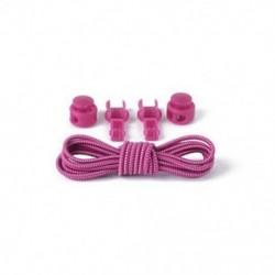 Roes Red   White 1Pair elasztikus nyakkendő záró cipőfűző cipőfűző cipő, sportcipő csattal