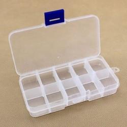 10 rekesz Műanyag 15/10/24 Slots Állítható ékszer tároló doboz Case Craft Organizer gyöngyök