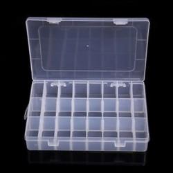 24 rekesz Műanyag 15/10/24 Slots Állítható ékszer tároló doboz Case Craft Organizer gyöngyök