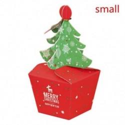 Kicsi Karácsonyfa alakú cookie-k fudge Candy Ajándékdoboz Kedvenc táska Xmas Party Decor