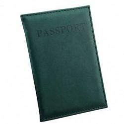Sötétzöld Utazási útlevél-azonosító Hitelkártya-fedél birtokosa Protector Szervező Bőr Új