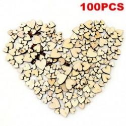 100db DIY rusztikus fa fa szerelem szív esküvői asztal szétdíszítés dekoráció kézműves