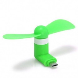 Zöld Hordozható mobiltelefon Mini Micro USB ventilátor Android telefon Samsung LG HTC Tablet