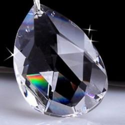 10x tiszta vízcsepp kristályüveg gyöngyök csillár medál díszek Xmas dekoráció