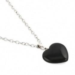 Ónix Természetes kvarc drágakő kő szív szikla gyógyító pont csakra medál nyaklánc
